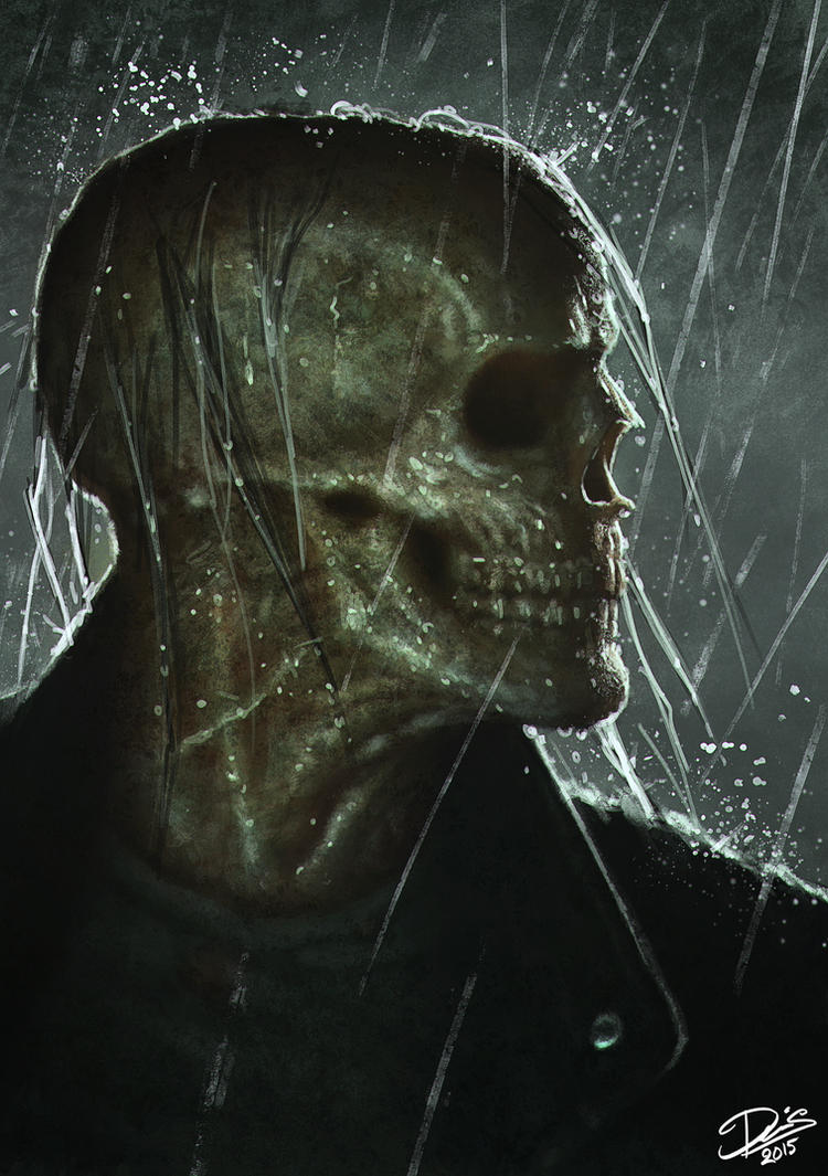 Skull In The Rain by Disse86 on DeviantArt Zombie Shark Tattoo