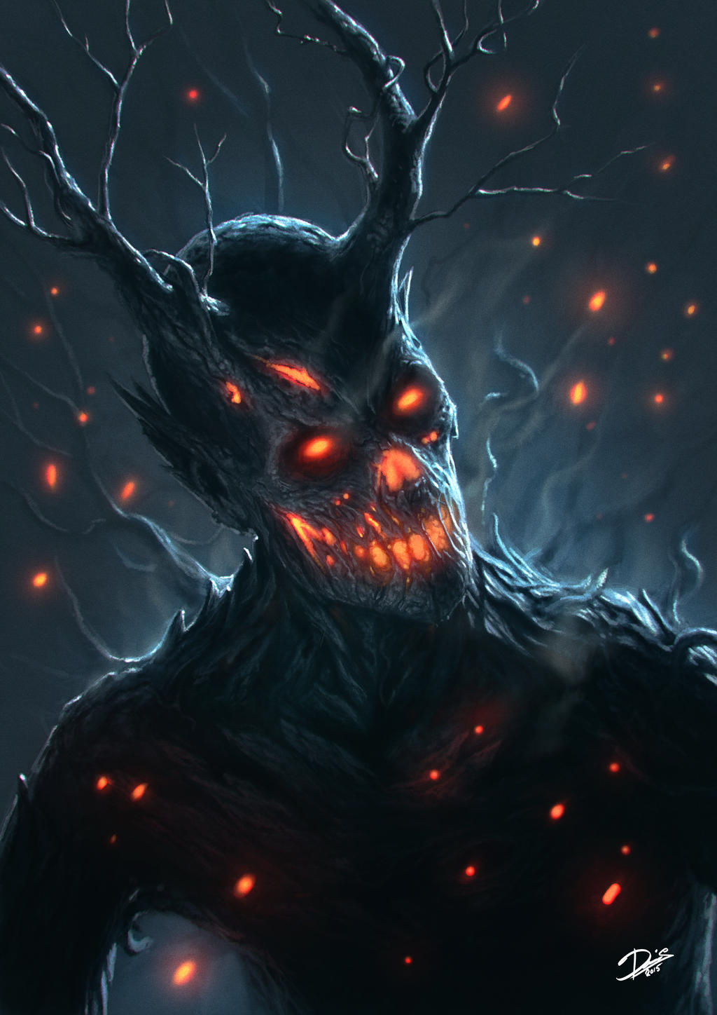 Tree demon by disse86 on deviantart for Domon pictures