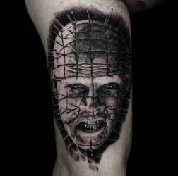 Pinhead tattoo by Disse86