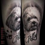Dog portrait tattoo by Disse86