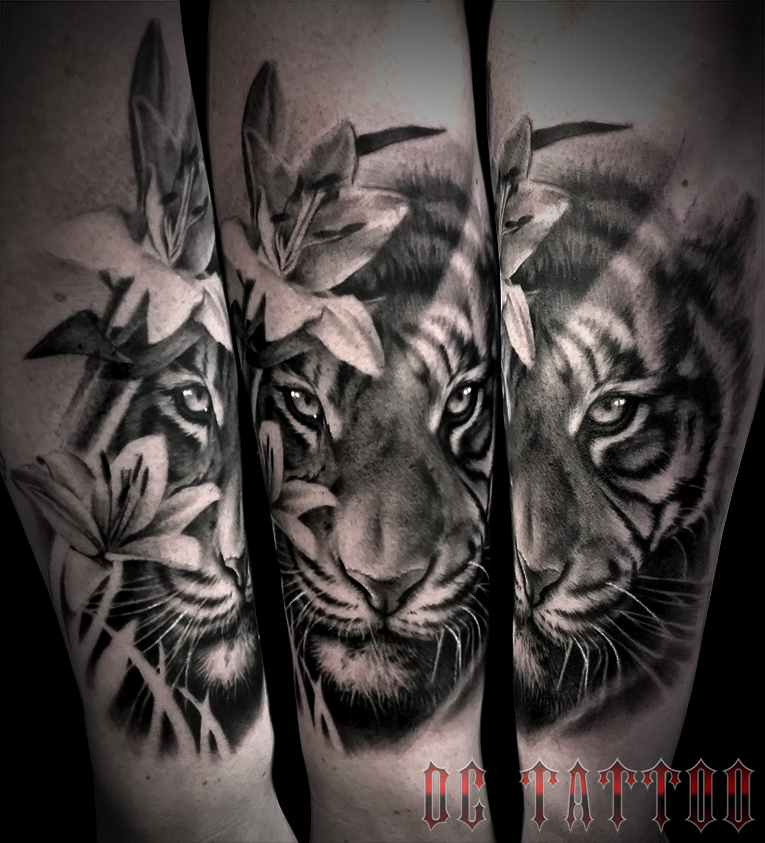 Tiger tattoo by disse86 on deviantart for White tiger tattoo