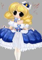 Blue Dress by CarmelCoveredQ-Chan
