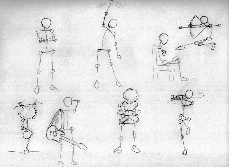Practise 5 Stick Figures By Serity93 On Deviantart
