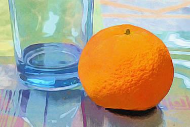 Orange Near Blue Glass by digivuza