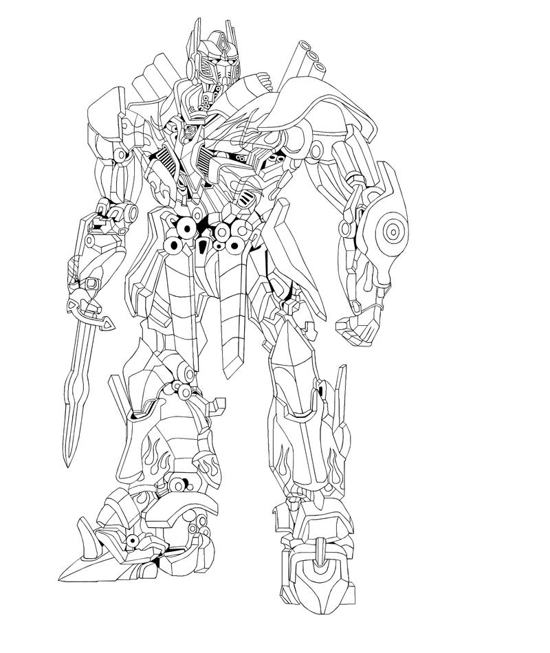 Optimus prime sketch by isterini on deviantart for Transformers sentinel prime coloring pages