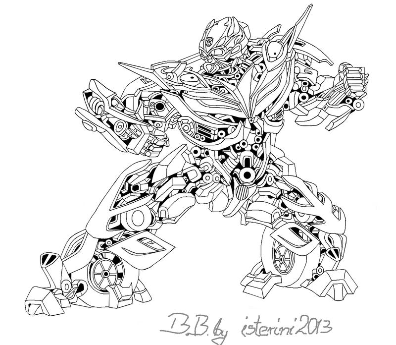 bumble bee transformer coloring page - bumblebee age of extinction sketch by isterini on deviantart
