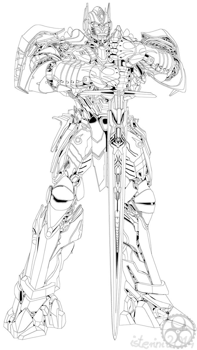 Optimus Prime Sword Coloring Pages