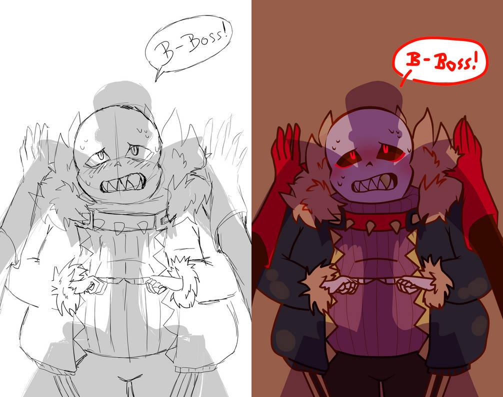 Fell sans sketch vs final version