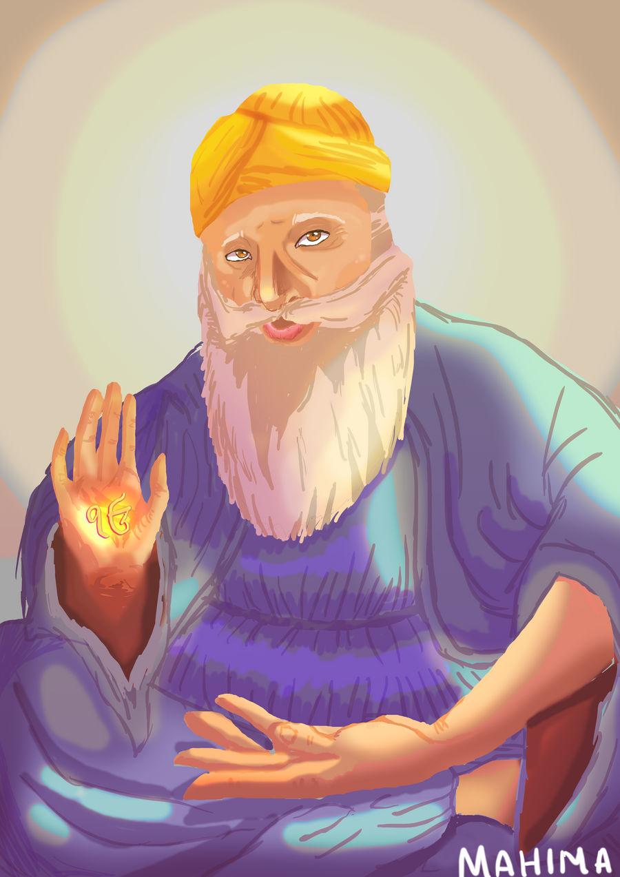 [ Gift for someone I know irl- ] Guru Nanak