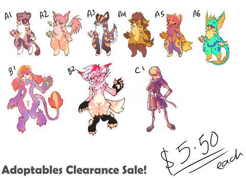 Adoptables clearance sale [OPEN] Flatsale SP $5.50