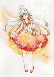Galaxy Flame Girl