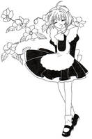 CCS- Waitress Sakura by Dawnie-chan