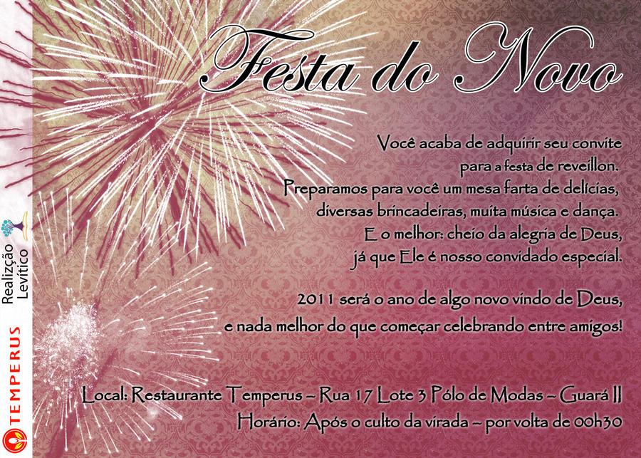 Convite - Festa de Ano novo by kandebonfim