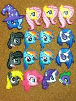 -Perler- My Little Pony Heads :D by OtakuLuka