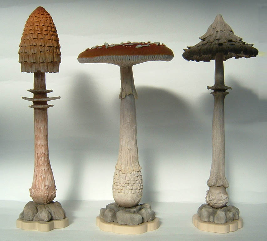 MUSHROOM SCULPTURES by thebiscuitboy on DeviantArt: thebiscuitboy.deviantart.com/art/MUSHROOM-SCULPTURES-86662755
