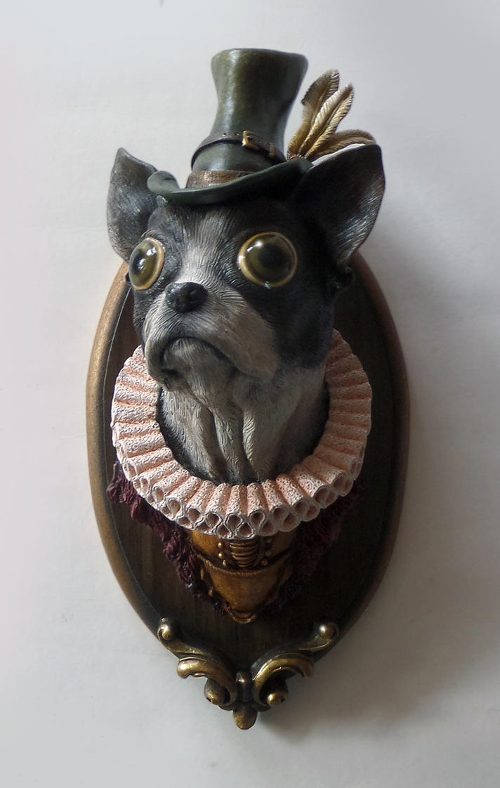 Tudor Boston Terrier (Sir Barrington Chorleycakes) by thebiscuitboy