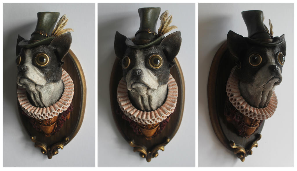 Tudor Boston Terrier by thebiscuitboy