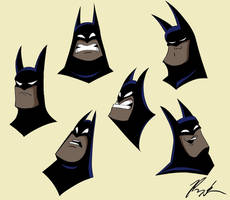 Batman Faces by El-Cid-84