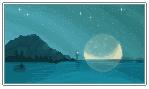 Moonrise at Valpar's Island - Pixel Art by LiticaHarmony
