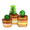 Mini Garden - Three Smol Plants by LiticaHarmony