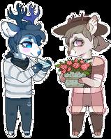 Ronan and Saffron Pixel Dolls by LiticaHarmony