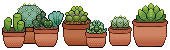 Cacti and Succulent Pixel by LiticaHarmony