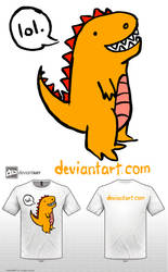 Lolling Dino by ramenluver111