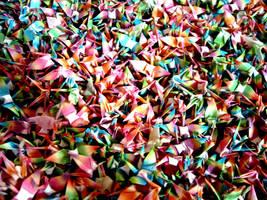 1000 paper cranes by gw33ntea