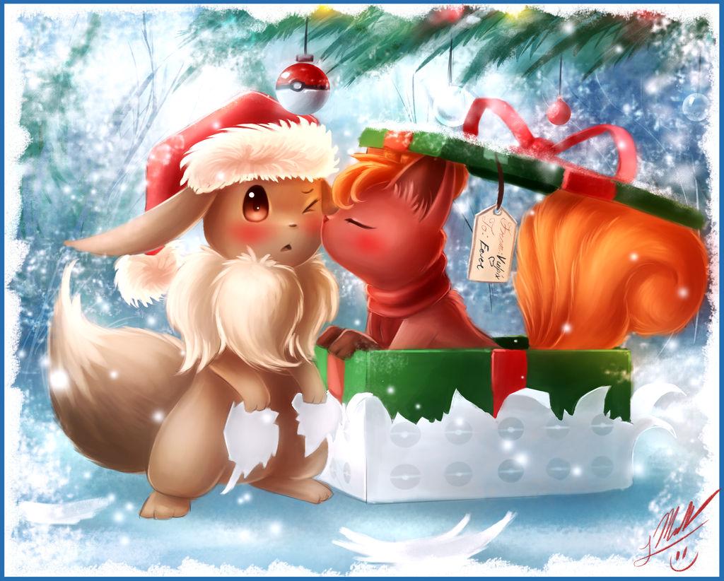 Christmas Eevee.Eevee S Christmas By Shupamikey On Deviantart
