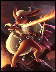 Warrior Flareon by ShupaMikey