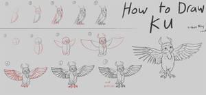 How to Draw Ku (Step by Step)