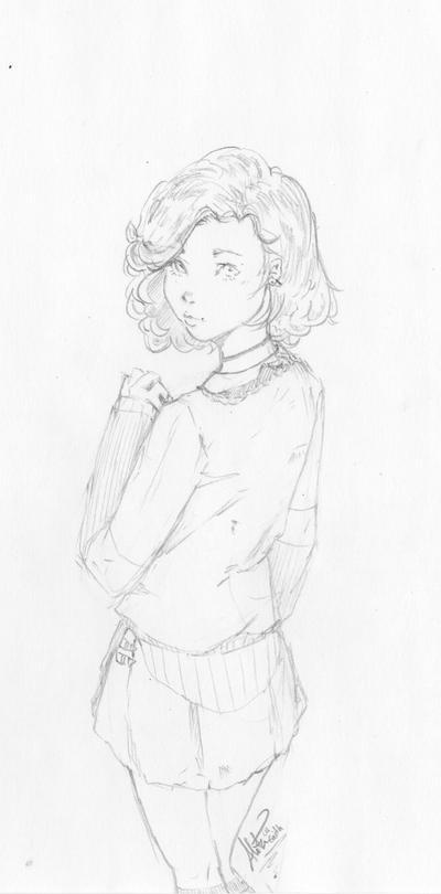 Curious - Speed Drawing - LineArt by AlitaLaFaith