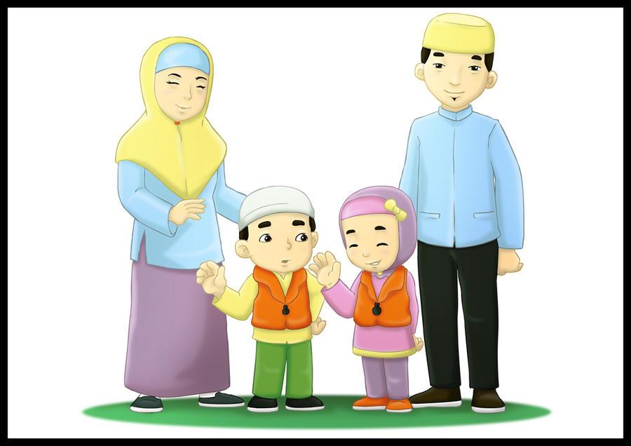 Image Result For Kartun Islami Keluarga Bahagia
