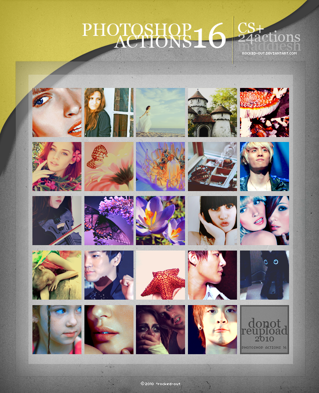 24 Photoshop Actions by oridzuru