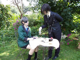 Sebastian Michaelis and Ciel Phantomhive Cosplay by LacriChan