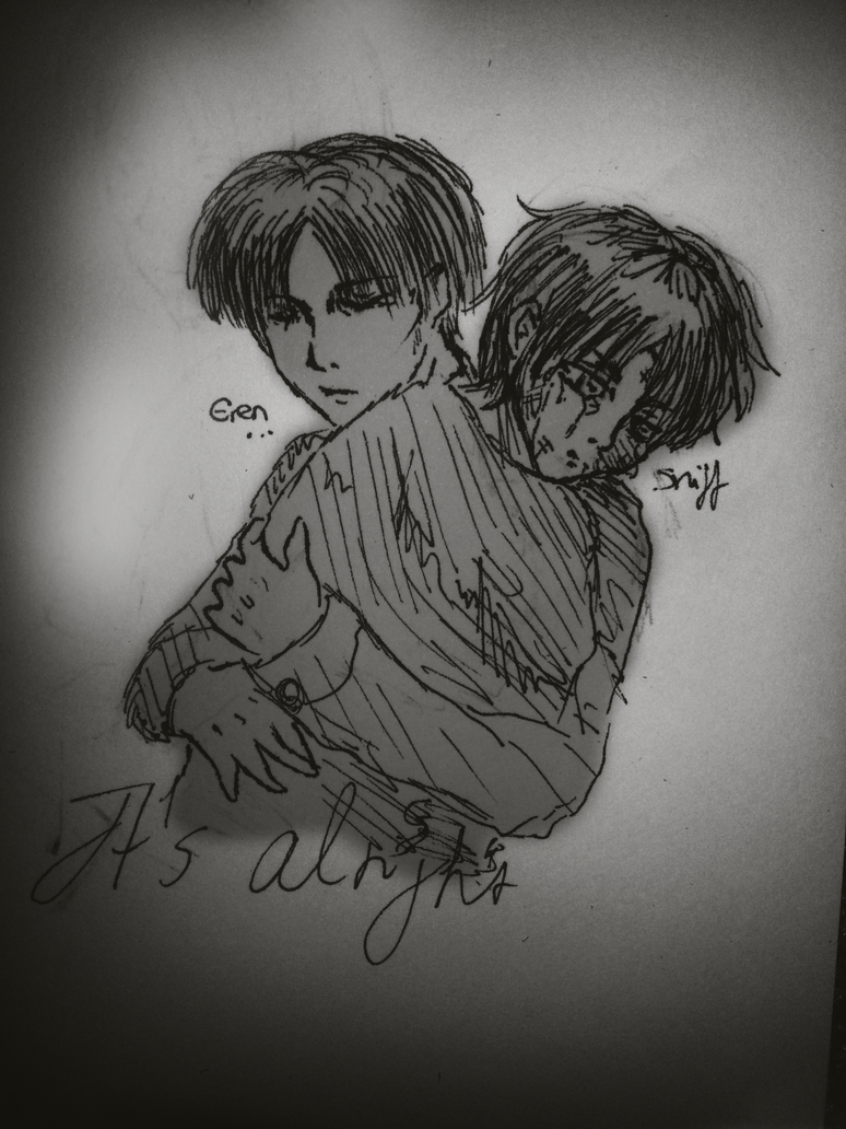 Levi and Child Eren by LacriChan