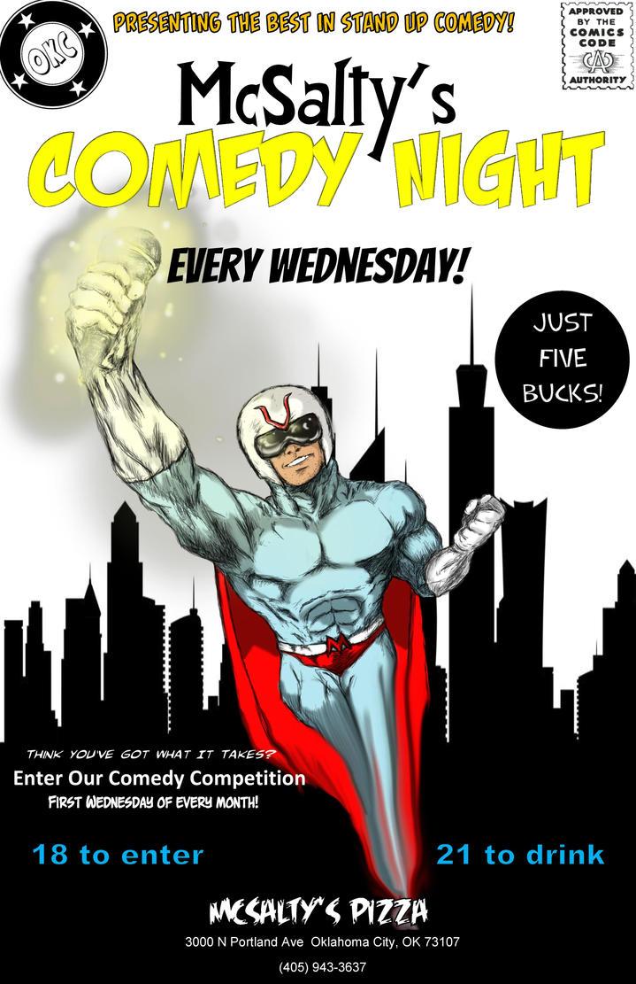 Mc Salty's Comedy Superhero Flyer by MindJuiCeS on DeviantArt