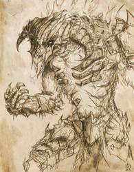 Armored Balrog Sketch by Wolfdog-ArtCorner