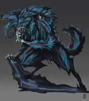 shark-wolf hybrid by Wolfdog-ArtCorner