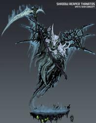 Shadow Reaper Thanatos - Smite Skin Concept by Wolfdog-ArtCorner