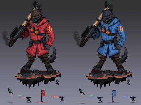 Rocket MANN Anhur SMITE/TF2