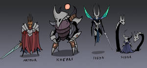 SMITE Gods In Hollow Knight