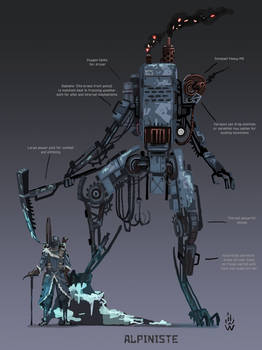 Alpiniste - Iron harvest mech concept