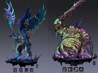 Chaos Gods as SMITE gods