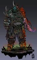 Nurgle titan pilot 40k/ titanfall