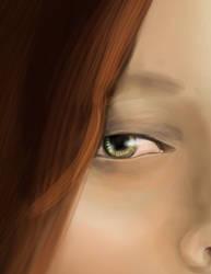 detail in process of green eyes by blacsteel