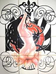 Mosaico baby pin up
