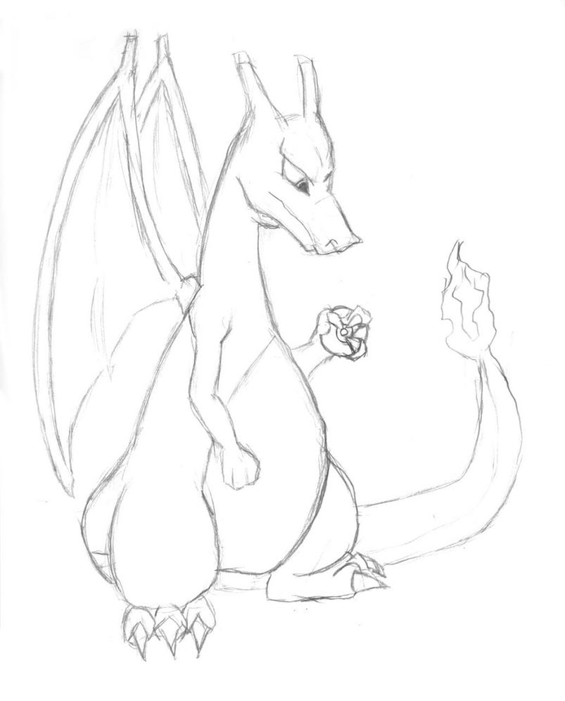 Sketch Is Just A Delicious Piece Of Human: Just A Charizard Sketch By SyrusDraco On DeviantArt