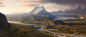 Dusk Mountains
