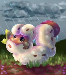 Grub in the Rain